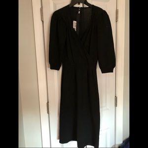 St. John black sweater dress vintage